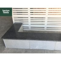 Black Copings: Natural Granite Flat Double Coping Stone in Emperor Black - 600mm x 300mm x 25mm