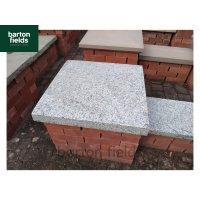 Silver Pier Caps: Natural Granite 60cm x 60cm Pier Cap in Emperor Silver - for 2 1/2 Brick Pillar
