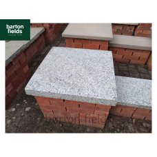 Silver Pier Caps: Natural Granite 60cm x 60cm Pier Cap in Emperor Silver - for 2 1/2 Brick Pillar