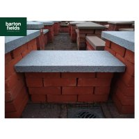 Natural Granite Flat Coping Stone in Graphite Grey - 600mm x 300mm x 40mm