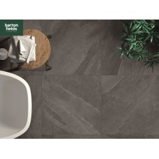 Italian Porcelain Paving in 600mm x 600mm x 20mm Ethos Crono Black Colour - Pack 23.04m2