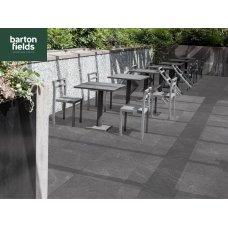 Porcelain Paving: Spanish Quartz Black 900x600x20mm Paving Tiles - Patio Pack of 18.9m2