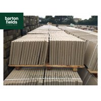 Discounted Paving Slabs - Seconds Quality 450x450x32mm Cotswold Buff Riven  Slabs- Pack (64)