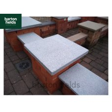 Natural Granite Flat Pier Cap in Graphite Grey - 500mm x 500mm x 40mm