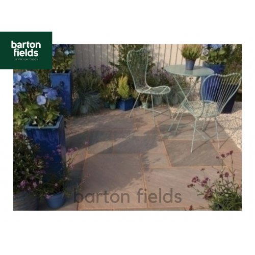 Bradstone Natural Sandstone 4 Size Paving in Burnt Umber - 15m2 Crates