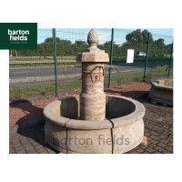 Natural Limestone Fountain - French Belfort Design: 1.8mtr Diameter