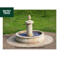 Natural Sandstone Fountain - French Belfort Design: 1.8mtr Diameter