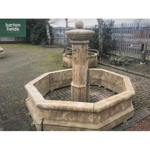 Natural Limestone Fountain - French Limoges Design: 2.5mtr Diameter