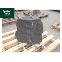 Natural Slate Monolith Water Feature in Blue Slate: Pre-Drilled 520mm High - Ref: OBS201