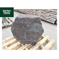 Natural Slate Monolith Water Feature in Blue Slate: Pre-Drilled 700mm High - Ref: OBS202
