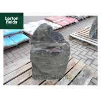Natural Green Slate Monolith - Pre-Drilled Water Feature. Ref: OG6 - 660mm High