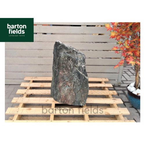 Natural Green Slate Monolith - Pre-Drilled Water Feature. Ref: OGS-202 - 650mm High