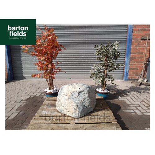 Natural Stone Boulder Pre-Drilled Water Feature in Grey Colour: 440mm High