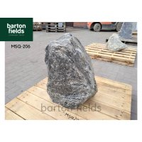 Natural Silver Quartz Stone Monolith - Pre-Drilled Water Feature. Ref: MSQ-206 - 630mm High