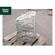 Natural Quartzite Stone Monolith Water Feature in Silver: Pre-Drilled - 780mm High