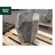 Natural Quartzite Stone Monolith Water Feature in Silver: Pre-Drilled - 575mm High