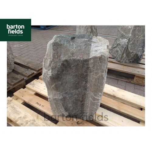Natural Silver Quartz Stone Monolith - Pre-Drilled Water Feature. Ref: MSQ-11 - 575mm High