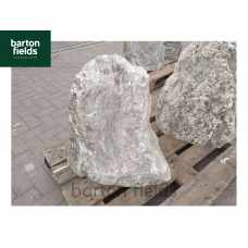 Natural Quartzite Stone Monolith Water Feature in Silver: Pre-Drilled - 590mm High