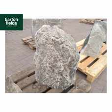Natural Quartzite Stone Monolith Water Feature in Silver: Pre-Drilled - 680mm High