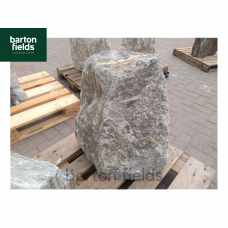 Natural Quartzite Stone Monolith Water Feature in Silver: Pre-Drilled - 600mm High