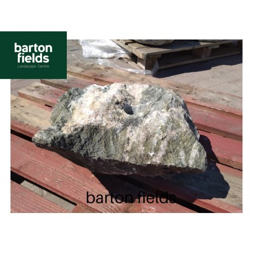 Natural Green Slate Pre-Drilled Water Feature: No:15 - 190mm High