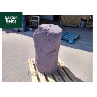 Natural Slate Monolith Water Feature in Plum Slate - Ref CPS1: Pre-Drilled - 900mm High