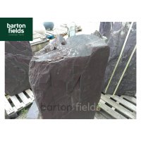Natural Slate Monolith Water Feature in Plum Slate - Ref PSM10: Pre-Drilled - 1130mm High