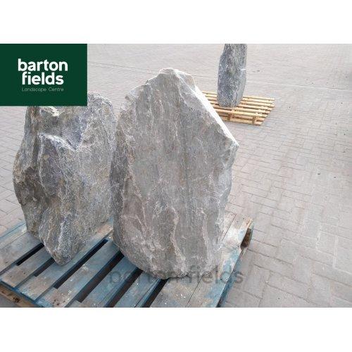 Natural Silver Quartz Stone Pre-Drilled Monolith Water Feature: SQ-612 - 915mm High
