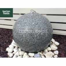 Natural Granite Pre-Drilled 60cm Dia Sphere in Silver - Complete Water Feature Kit