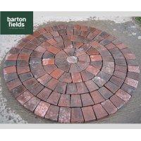 Tumbled 50mm Block Paving Circle, Brindle - 1.55mtr Diameter