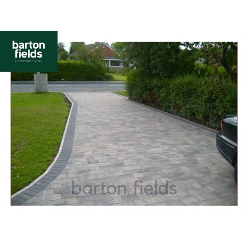 Contemporary 2 Size Block Paving in Graphite Blend - Pack 8.25m2