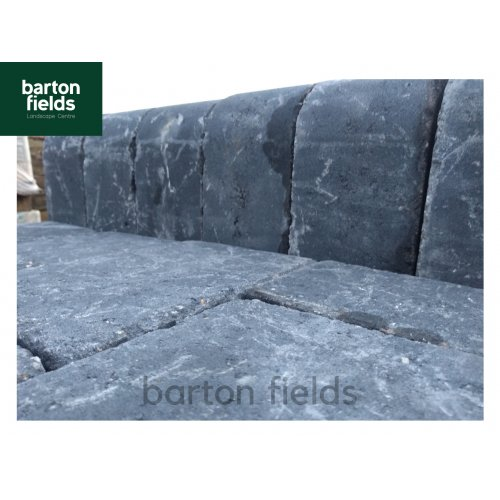 Tumbled Block Paving High Kerbs for Driveways in Charcoal