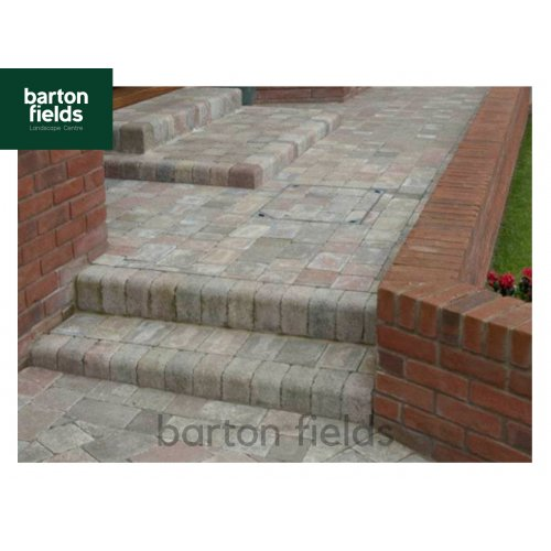 Tumbled Block Paving Low Kerbs for Driveways in Original Blend Colour - 140mm High