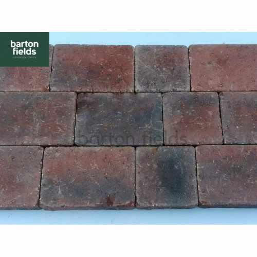 Courtyard Tumbled 50mm 2 Size Block Paving in Brindle - Pack 8.35m2