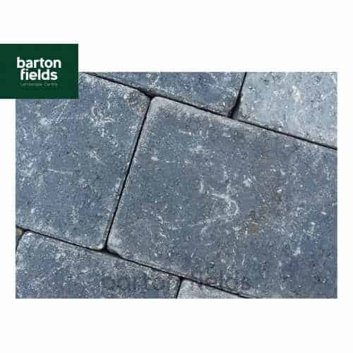 Courtyard Tumbled 50mm 2 Size Block Paving in Charcoal - Pack 8.35m2