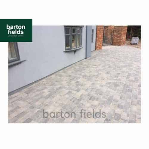 Courtyard Tumbled 50mm 2 Size Block Paving in Graphite Blend - Pack 8.35m2