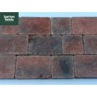 Tumbled 50mm 2 Size Block Paving, Brindle - Pack 8.35m2