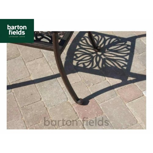 Courtyard Tumbled 50mm 2 Size Block Paving in Original - Pack 8.35m2