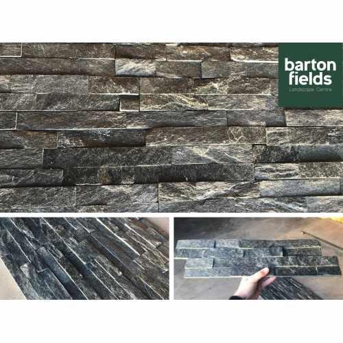 Natural Quartz Stone Contemporary Cladding in Graphite Colour- Per Square Metre (m2)