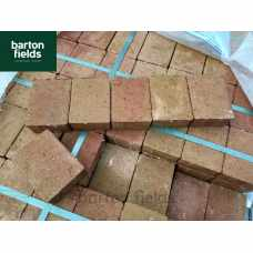 Contemporary Paving Cobble Setts in Sunset Colour. Size: 105x140x50mm