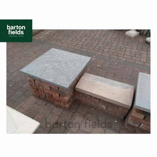 Natural Sandstone Twice Weathered Copings for Double Wall in Galaxy Black Colour - 60x30x4cm