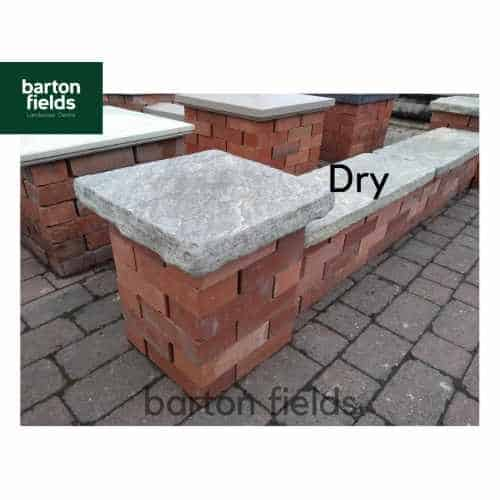 Natural Sandstone Reclaimed Style 1.5 Brick Pier Caps in Grey / Green - 400mm x 400mm x 50mm