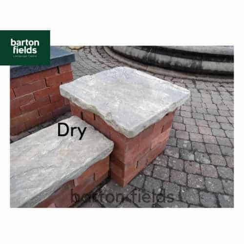 Natural Sandstone Reclaimed Style 2 Brick Pier Caps in Grey / Green - 500mm x 500mm x 50mm