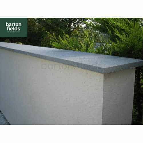Natural Granite Flat Coping Stone in Graphite Grey - 600mm x 300mm x 25mm