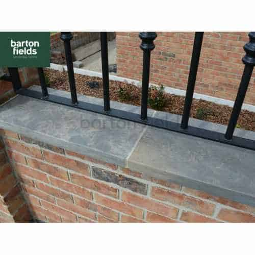 Natural Sandstone Flat Copings for Double Wall in Galaxy Black Colour - 60x30x4cm