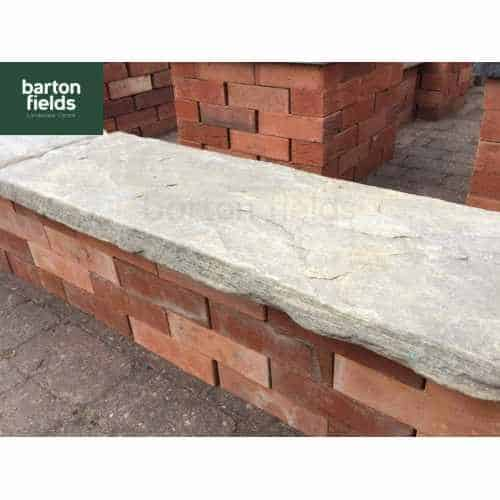 Natural Sandstone Reclaimed Style Double Wall Coping Stone in Grey - 900mm x 300mm x 50mm