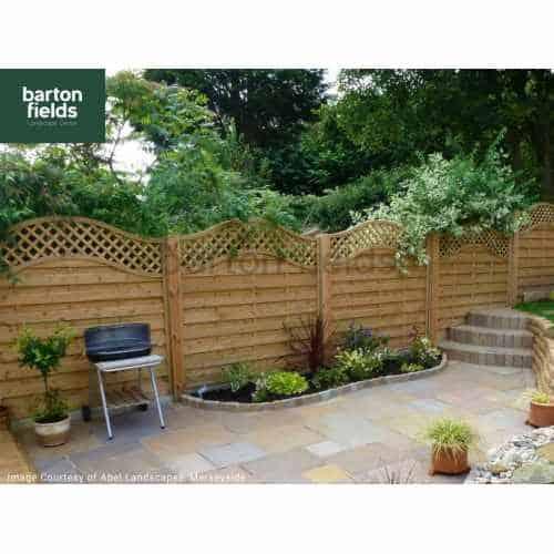 Chelsea Wave Top Fence Panel - 180cm x 180cm