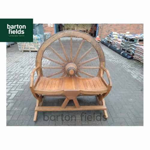 Cartwheel Two Person Garden Seat - Made from Reclaimed Teak