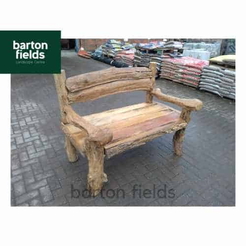 Giant's Garden Bench / Seat: 1400mm Wide - Made from Reclaimed Teak