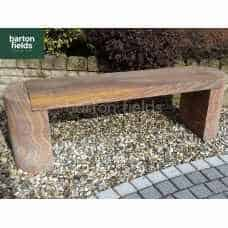 Natural Sandstone Straight Garden Bench in Rainbow Colour - 1420mm